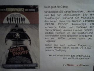 Hinweis im CinemaxX